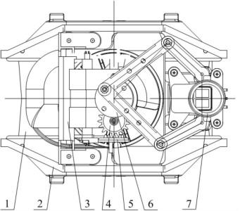 第二种为点对称旋转结构方式,第三种为平行对称旋转结构方式,这两种结