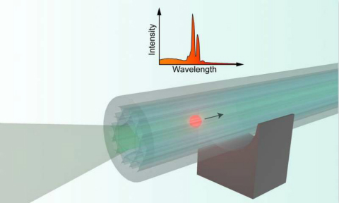 研究人员研制出在空芯光纤中高速传输的微型激光器