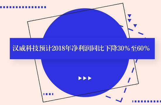 汉威科技预计2018年净利润同比下降30%至60%