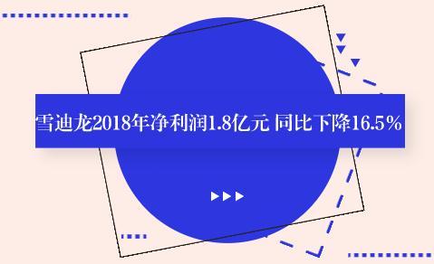 雪迪龙2018年净利润1.8亿元 同比下降16.5%