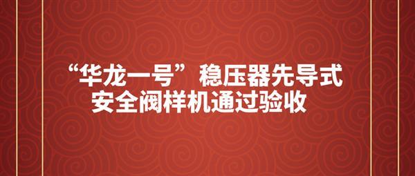 """""""華龍一號""""穩壓器先導式安全閥樣機通過驗收"""