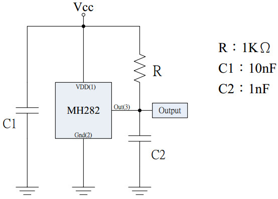 霍尔元件mh282测试电路图