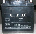 CTD蓄电池6GFM24(12V,24AH)参数电力设备报价