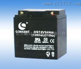 光盛电瓶12v24ah参数CONSENT蓄电池GS12V24AH图片