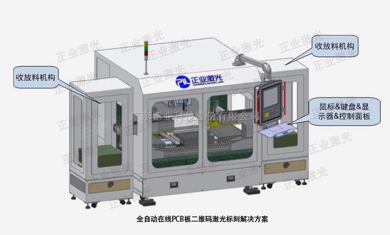 全自动PCB二维码激光打标机,全自动激光打标机