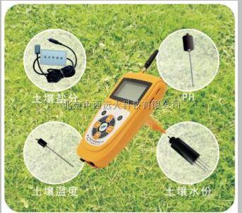 托普土壤水份、温度、盐分PH 四参数速测仪
