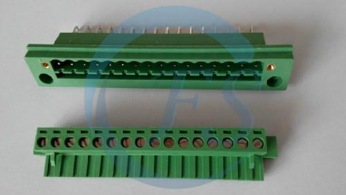 穿墙端子 自动化设备接线端子 5.08间距连接器 pcb板端子排-fs