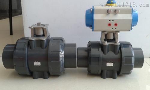 气动塑料球阀/气动塑料pvc球阀图片