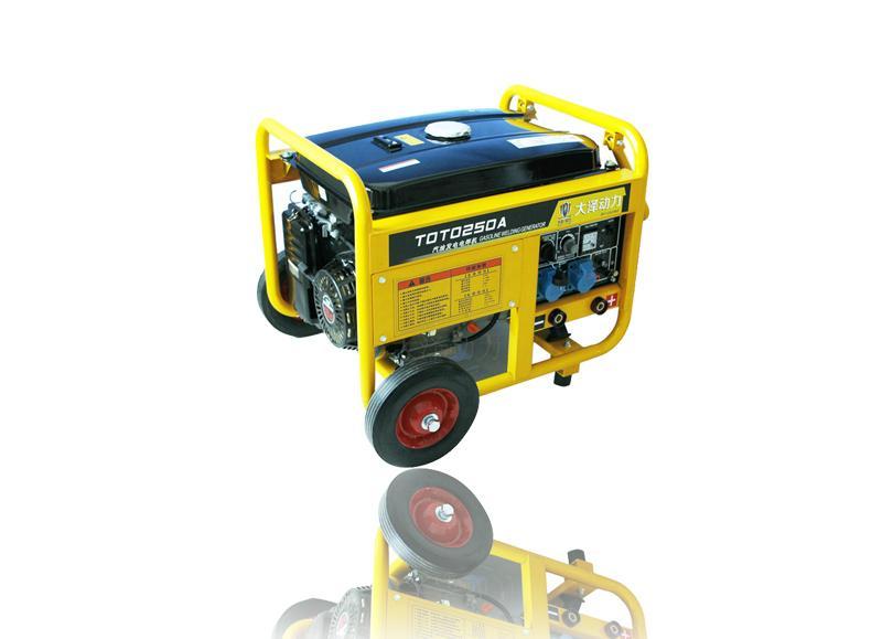 能发电的焊机,230A汽油发电机原装进口