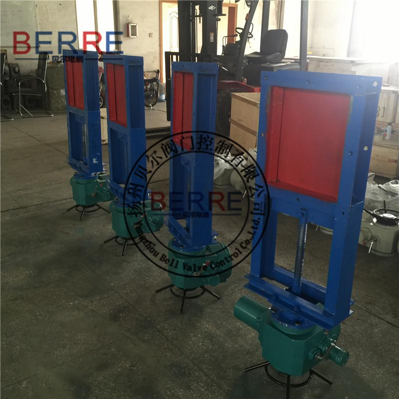 【生产厂家】电动插板阀制造商,扬州电动插板阀300*350