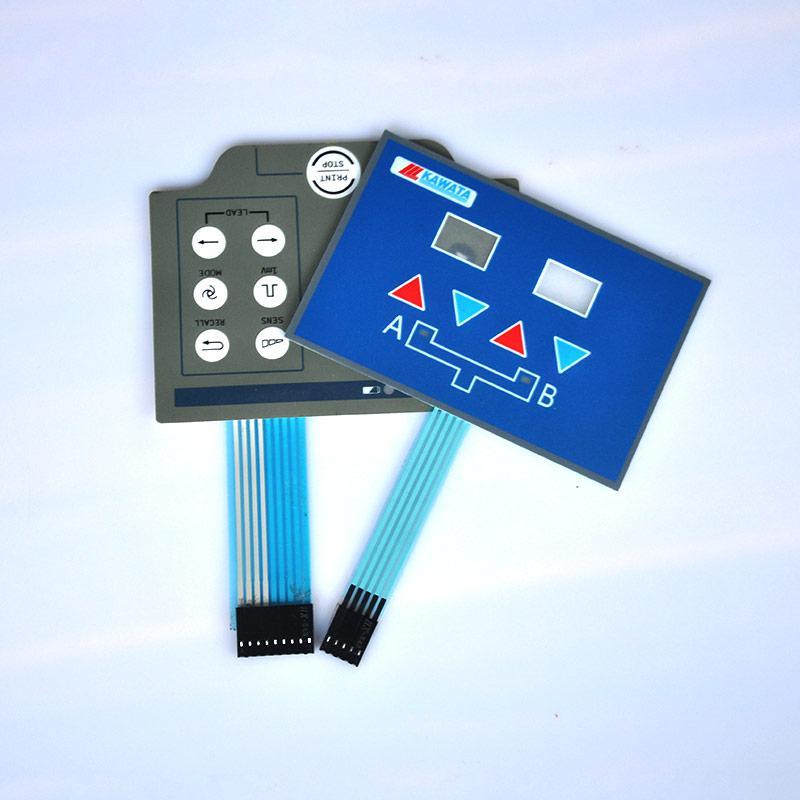 薄膜面板薄膜面贴设计定制,可定制PET/PC薄膜面板 薄膜面贴将睿薄膜开关工厂