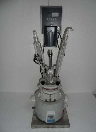F-1L单层玻璃反应釜   1升单层玻璃反应釜供应