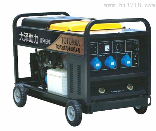 双缸便携式300A静音柴油发电电焊机