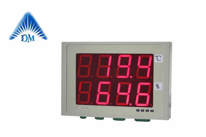 dm-7200大屏温湿度报警器 rs485通讯,车间温湿度显示屏制造商大屏温