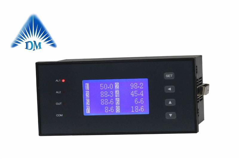 液晶16路PT100温度显示仪DM1208,十六回路K型热电偶调节仪制造商博敏特成都