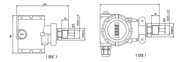 BP93420-IIC管道专用防爆型压力变送器 特价直销无锡浙江杭州 BP93420-IIC管道专用防爆型压力变送器 一 产品描述 压力变送器采用 HT 系列硅压阻式隔离膜充油芯体作为信号测量元件,传感器信号经过信号处理电路后转换为标准信号输出,产品经过元器件、半成品、成品严格测试,长期老化等工艺筛选,整体性能高,长期稳定性好、抗干扰能力强,能长期安全可靠地在环境相对恶劣的条件下工作。  BP93420-IIC管道专用防爆型压力变送器 二 产品特点 测量范围广,铝铸防爆壳体,压力接口形式多样; 输出信号形