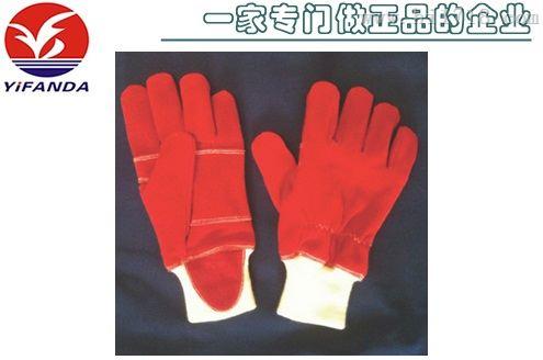 【专业厂家生产】PG消防员手套,EN659欧标消防皮手套
