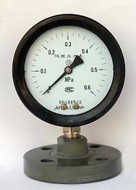 YTP防强腐全塑隔膜压力表