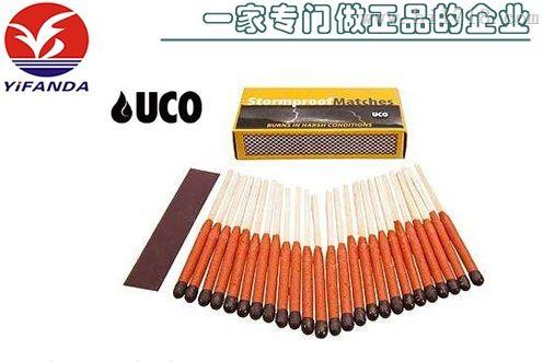 【专业厂家生产】高强度防水户外火柴,铁血正品