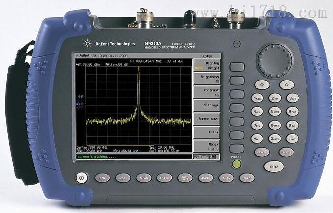N9340A使用说明 、 AgilentN9340A手持频谱分析仪 、
