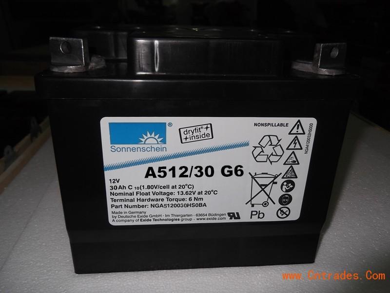 德国进口阳光蓄电池A412/32G6,报价、参数见详细说明12V32AH