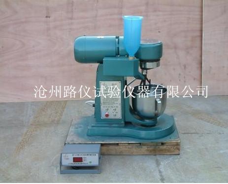 水泥胶砂搅拌机接线图工作原理  双速电机通过连轴套将动力传给传动