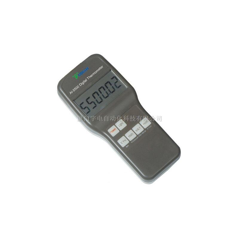 宇电手持式测温仪AI-5500,高精度测温仪器、多种传感器可连。