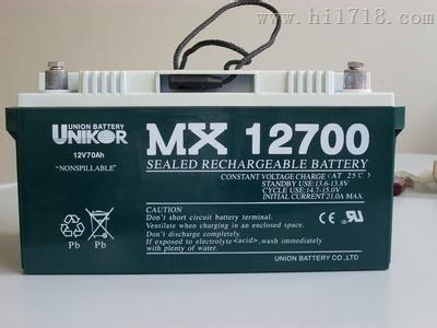 MX12650 UNION友联蓄电池 型号及规格