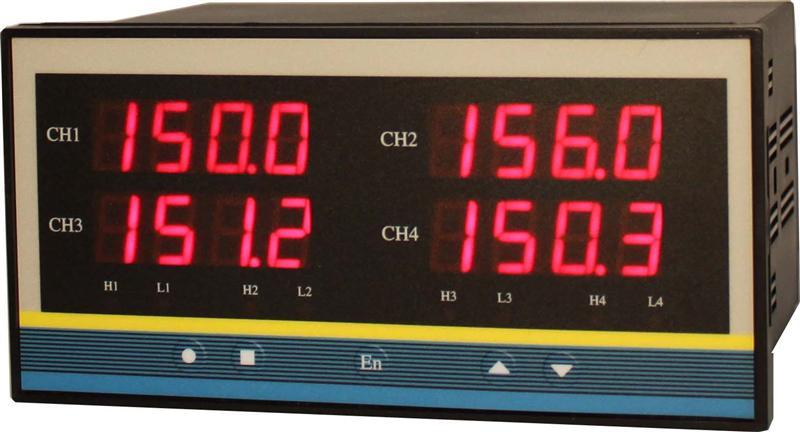 四通道温度测控仪   YK-14A-S-PT100 RS485通讯  继电器控制输出