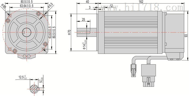 仪器仪表网 供应 电工仪器仪表 电机 伺服电机 □60mm