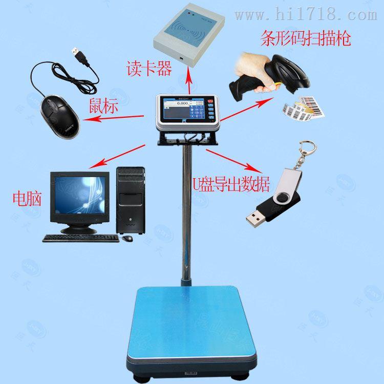 连接读卡器用ID卡刷卡称重的电子秤