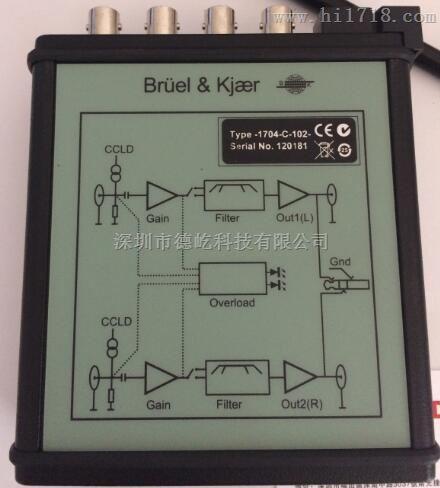 【丹麦B&K1704-C-102,现货低价促销】适调器,信号放大器,信号适调器