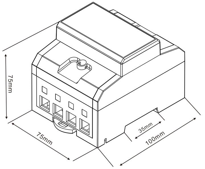 2 外型尺寸 dts866三相四线直接式接线图 互感式壳体开模中待续 dts