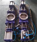 双闸板气动插板阀   国内做的的双气动插板阀   上海法登