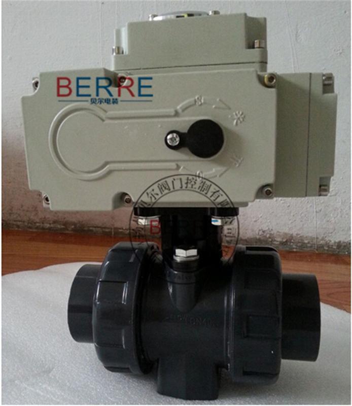 【厂家直销】 电动球阀Q941F-16UPVC-50塑料球阀
