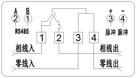 单相导轨式多功能电能表(4p)