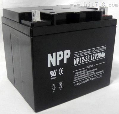 厂家直销NPP耐普蓄电池NP12-38AH  12V38AH特价