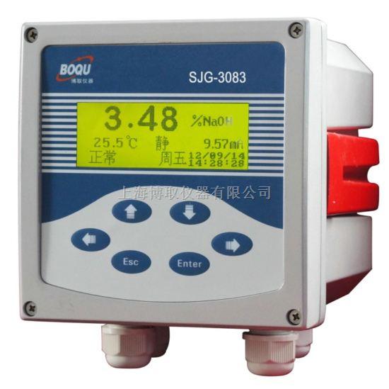 测盐水浓度计的在线分析仪SJG-3083,0-20%NACL氯化钠浓度监测仪