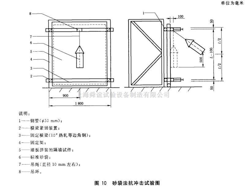 GB/T30100-2013砂袋法建筑墙板抗冲击试验仪生产厂家