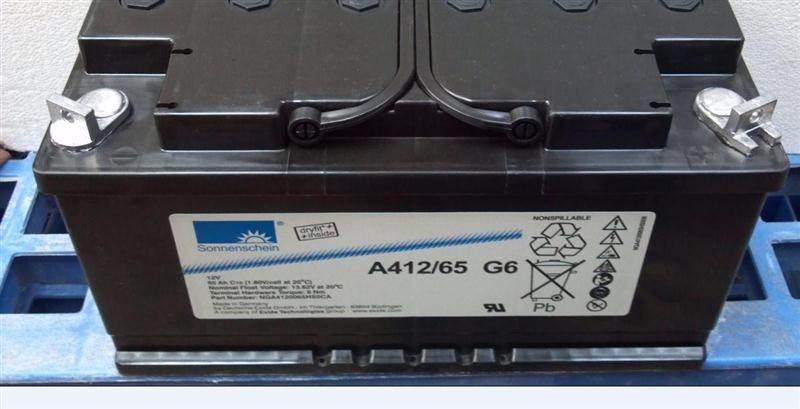 德国阳光蓄电池A412/65 G6 12V65AH德国原装进口