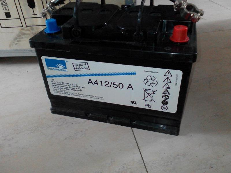 德国阳光蓄电池A412/50 A 12V50AH原装进口 假一罚十