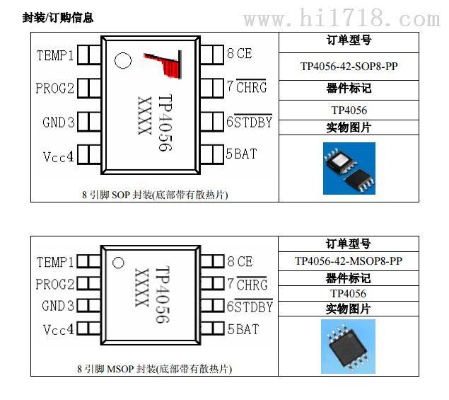> tp4056 4.2v1a 恒流恒压线性锂离子电池充电ic > 高清图片