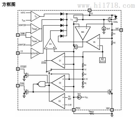 2v1a 恒流恒压线性锂离子电池充电ic > 高清图片