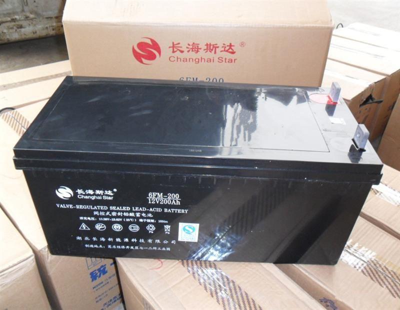 长海斯达蓄电池6FM-200 12V200AH厂家直销
