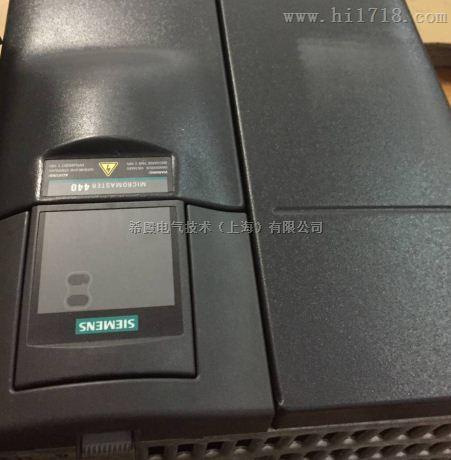 西门子MM440上电就报故障F001