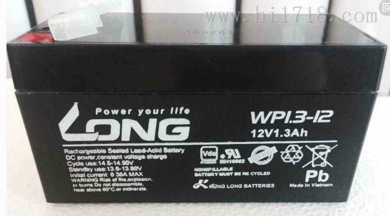 台湾广隆蓄电池WP1.3-12规格12v1.3ah现货