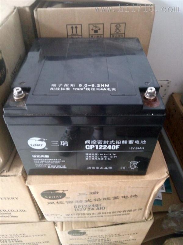 三瑞蓄电池12v12ah不间断电源UPS门禁专用