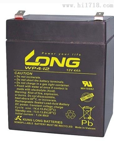 LONG广隆蓄电池WP4-12规格12V4AH厂家