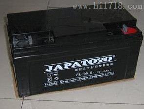 JAPATOYO东洋蓄电池6FM65 12V65AH规格报价