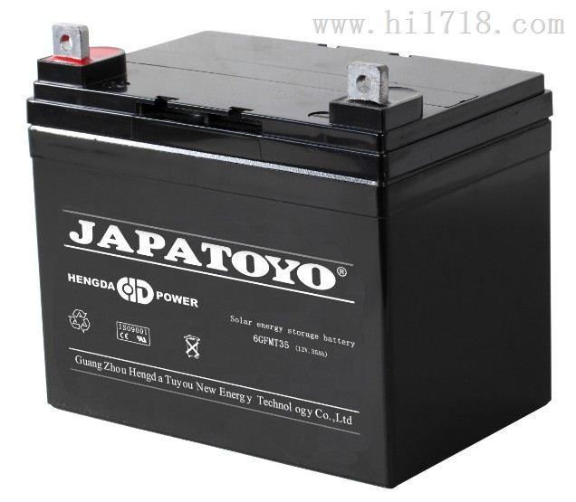上海东洋蓄电池6GFM35 厂家12V35AH
